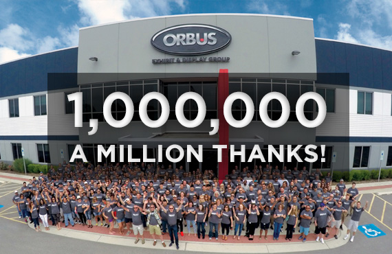 Orbus 1 millionth order