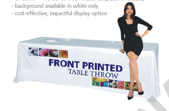 New Product Table Throw Printed 2018