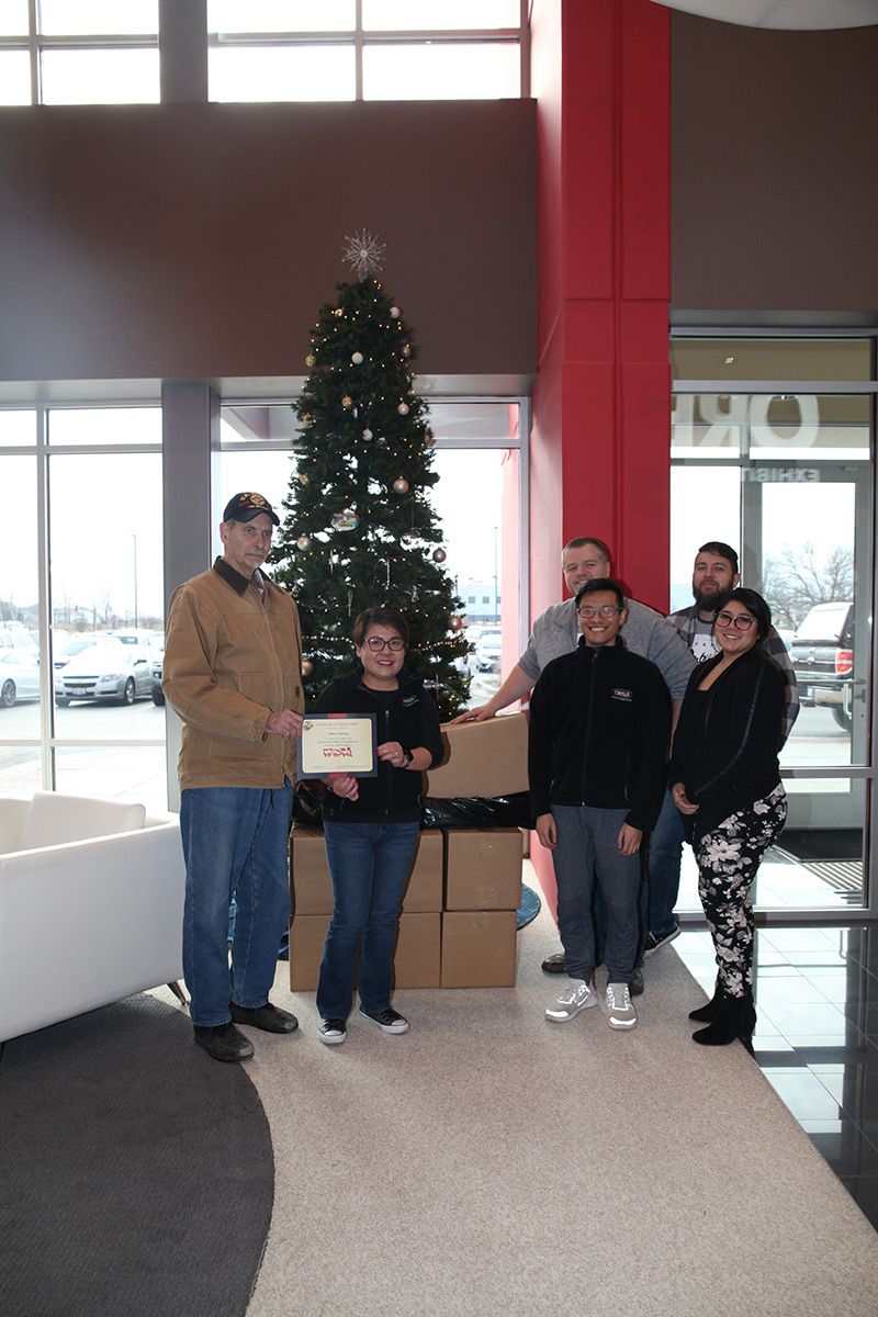 Orbus Certificate of Appreciation from Toys for Tots